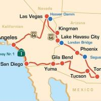 USA: geführte Bikertour - Arizona, Nevada & Kalifornien Sunshine & Desert Tour